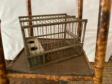 Antique Vintage French Small Coal Miner's Wooden Canary Bird Cage Provence 8�