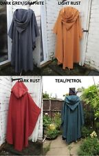 Medieval Vikings cloak hooded cape Re enactment role play LOTR GAME OF THRONES