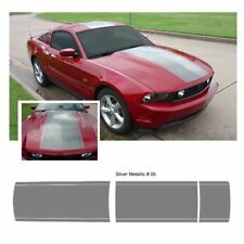 Ford Mustang 2010-2012 Center Stripe Body Graphic Kit - Metallic Silver