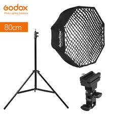 "Godox 80cm 32"" Octagon Umbrella Softbox Kit with Grid + Light Stand + Bracket"