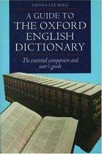 A Guide to the Oxford English Dictionary-ExLibrary