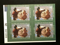 UNITED STATES JDS10 MNH MALLARDS PLATE BLOCK *JUNIOR DUCK HUNTING-FREE SHIPPING
