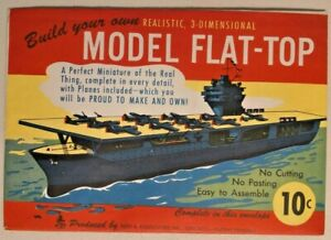 Vintage 1944 Reed & Associates Model Flat-Top Cutout Origami Paper Toy NOS -2074