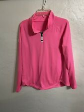 Junior's Under Armour Pull Over Zip Up Pink Long Sleeves Sz See Measurements