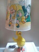 Vintage Sesame Street Big Bird Lamp YELLOW Retro Shade Ernie Bert Count Muppets