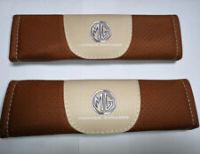 2Pcs Brown Color Car Seat Belt Shoulder Cushion Cover Pad Fit For MG Auto