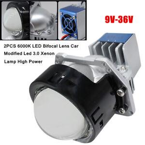 2X 9-36V 6000K LED Bifocal Lens Car Modified Led 3.0 Xenon Lamp High Power Part