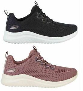 Skechers Ladies UltraFlex Bungee Slip-On Lightweight Athletic Sneakers, Variety