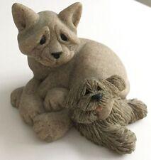 Quarry Critters Cari & Don #46481 Cat & Dog Second Nature Design Figurine