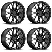 "Set 4 18"" TSW Sebring 18x8.5 Matte Black 5x108 Wheels 42mm Rims"
