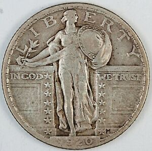 1920 United States Standing Liberty Quarter - VF Very Fine Condition