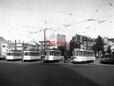 PHOTO  BELGIUM TRAMS 1959 BRUXELLES SCHAERBEEK STIB TRAM NO 1311 ON ROUTE 1 3401