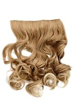 Hair Piece Clip-In Extension half Wig Width Hair Extension Blonde Mix Curly