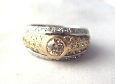 1.02ctw Champagne & White Diamond Wedding Ring 14k Gold Sz 7 & 9.0g Appraisal