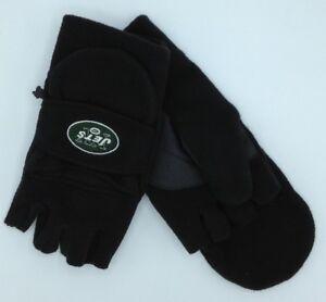 NFL Reebok New York Jets Mens Fleece Fingerless Convertible Mitten Winter Gloves