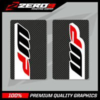 WP UPPER FORK DECALS MOTOCROSS GRAPHICS MX GRAPHICS CARBON 16