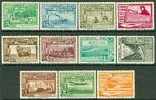 EDW1949SELL : PERU 1936-37 Sc #C17//37 1937 Issues Cplt All ovpt 'MUESTRA' VFMOG