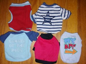 Lot of 5  Tiny XS Small Dog T-shirts