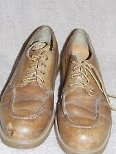 Vintage Tan Leather WORKER Lace Up Shoes Mens 10.5D Used
