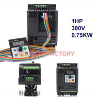 1HP Variable Frequency Drive Inverter VFD 0.75KW 380V 2.5A +5M Cable 3Phase CNC