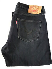 Levi 501 Black Men's Jeans W 36 L 33½ Straight fit Button fly B38