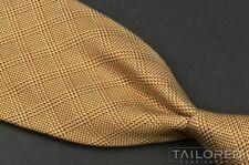 "MASSIMO BIZZOCCHI Yellow Orange Plaid Check 100% Silk Mens Luxury Tie - 4.00"""