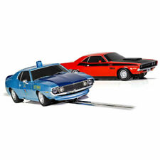 SCALEXTRIC Slot Car Twin Pack Dodge Challenger & C4058 AMC Javelin Police Car
