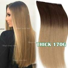 100% Best Double Weft Clip In Remy Human Hair Extensions Full Head Real THICK US