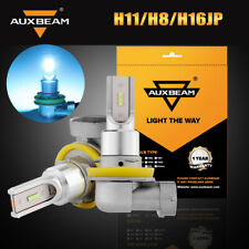 AUXBEAM H8 H9 H11 H16 SMD LED Fog Driving Lamp Bulbs 2400LM 12000K Blue Light