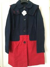 NWT Coach New York Women's Jacket Coat Colorblock Red Navy Blue XS NEW