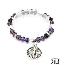 Evil Protection Saint St Benedict Medal Stretchy Women's St Benito Bracelet