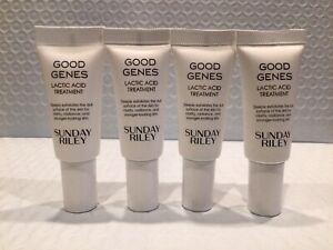 4 x Sunday Riley Good Genes Lactic Acid Treatment .17 oz / 5 ml