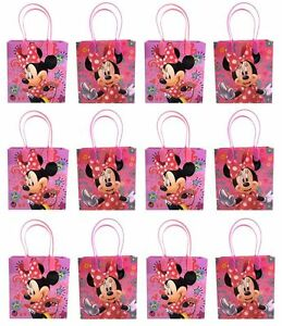 Disney Minnie Mouse 12 Pcs Party Goody Bags Birthday Party Gift Bags