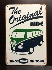 VW Kombi The Original Ride Vintage&Retro Style Small Metal Garage Sign 20x30cm