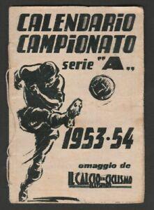 CALENDARIETTO CAMPIONATO 1953-54  CALCIO ILLUSTRATO  SERIE A BIBLIOTECA RIZZOLI