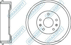 Brakefit BDR9020 Brake Drums x2 bsh1039 brake shoes