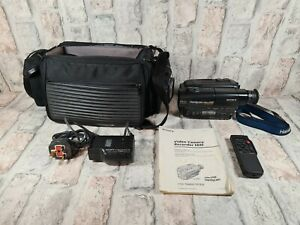 Sony TR780E Camcorder Vhs Camera Handycam With Bag And Ac Power Adapter remote
