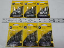 (12) GE 7443 Miniature Lamp Bulb 25w/5w Wedge Base 12 volt T7 12v Free Ship!!
