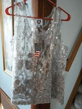 Royal Highness Molly silver lace vest size 3X