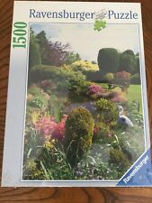 Beautiful Garden 1500 pc Ravensburger Germany Sealed Flower Puzzle 23 x 33""