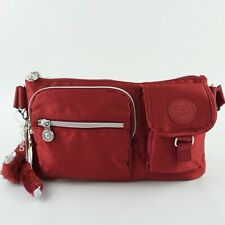 KIPLING PRESTO Convertible Waist Bag Belt Bum Bag Fanny Pack Red