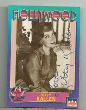 KITTY KALLEN SIGNED AUTOGRAPHED STARLINE HOLLYWOOD CARD