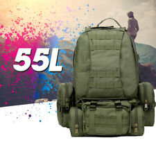 Waterproof 55L Military Tactical Backpack Rucksack Bag Camping Outdoor Hiking