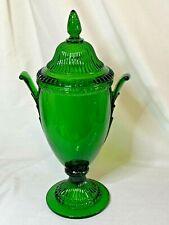 Cambridge elegant glass emerald green Gadroon urn