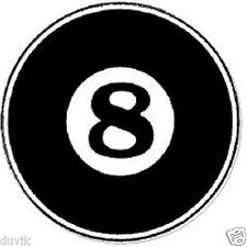8 (EIGHT) BALL HELMET STICKER LARGE