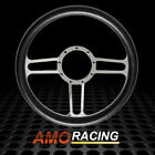 Universal Chrome Billet Aluminum 9 Hole 14 Steering Wheel With Half Wrap Gm