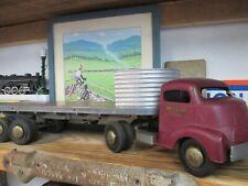 Smith Miller GMC Flatbed Tractor  Fruehauf Trailer Truck -  Pressed Steel