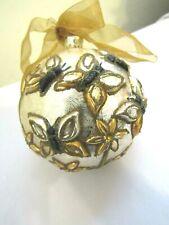Outstanding Vintage Jumbo Butterflies + Flowers Glass Christmas Ornament Display