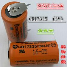 2PCS Original SANYO CR17335 3V Control Battery With Welding Foot CR17335 3V 17mm