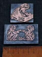 SPIELENDE KINDER Galvano Druckstock Kupferklischee Druckplatte letterpress plate